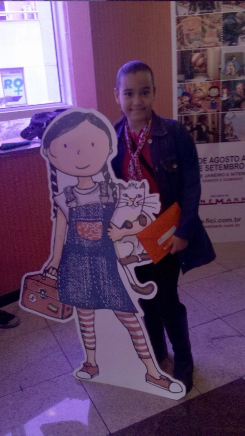 Joyce e eu no cinema!