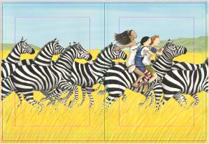 Pilar com zebras